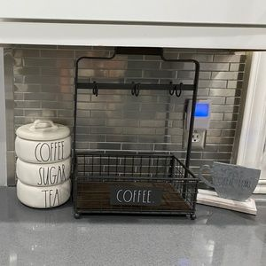 Rae Dunn coffee rack NWT